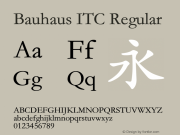 Bauhaus ITC Version 1.20 August 6, 2017图片样张
