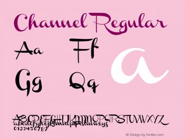 Channel Regular Version 001.000 Font Sample