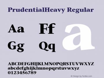 PrudentialHeavy Regular Publisher's Paradise -- Media Graphics International Inc. Font Sample
