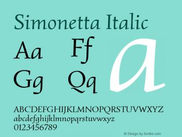 Simonetta Italic 图片样张
