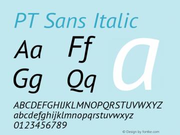 PT Sans Italic 图片样张