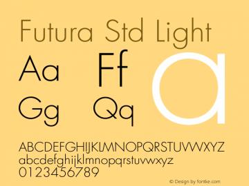 Futura Std Font,FuturaStd-Light Font,Futura Std Light Font|FuturaStd