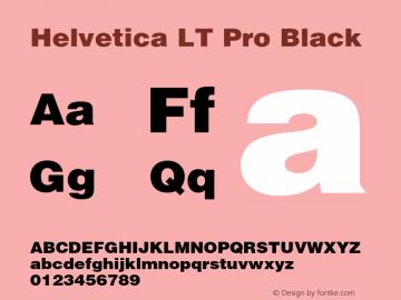 HelveticaLTPro-Black Version 2.000 Build 1000图片样张