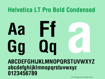 HelveticaLTPro-BoldCond Version 2.000 Build 1000图片样张