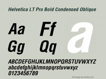 HelveticaLTPro-BoldCondObl Version 2.000 Build 1000图片样张