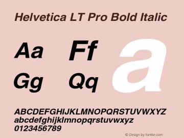 HelveticaLTPro-BoldOblique Version 1.000 Build 1000图片样张
