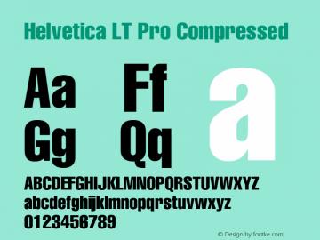 HelveticaLTPro-Compressed Version 2.000 Build 1000图片样张