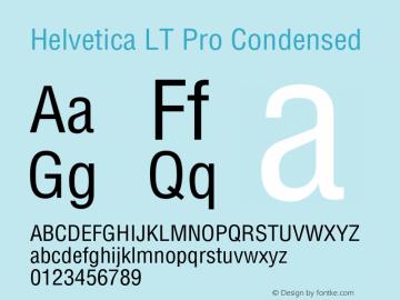 HelveticaLTPro-Condensed Version 2.000 Build 1000图片样张