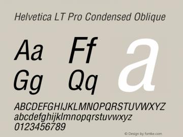 HelveticaLTPro-CondensedObl Version 2.000 Build 1000图片样张