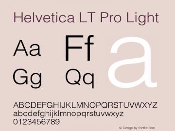 HelveticaLTPro-Light Version 2.000 Build 1000图片样张