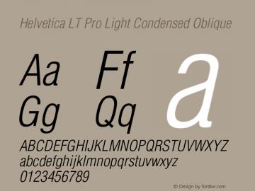 HelveticaLTPro-LightCondObl Version 2.000 Build 1000图片样张