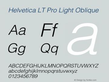 HelveticaLTPro-LightOblique Version 2.000 Build 1000图片样张