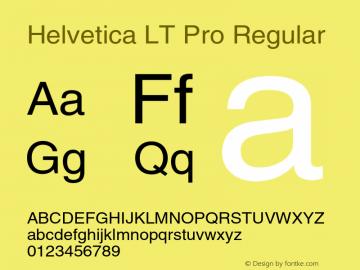 HelveticaLTPro-Roman Version 1.000 Build 1000图片样张
