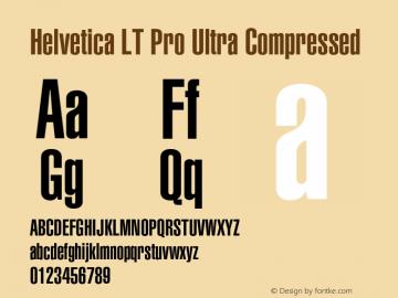 HelveticaLTPro-UltComp Version 2.000 Build 1000图片样张