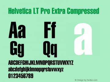 HelveticaLTPro-XCompressed Version 2.000 Build 1000图片样张