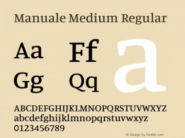 Manuale Medium Regular 图片样张
