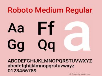 Roboto Medium Regular 图片样张