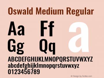 Oswald Medium Regular 图片样张