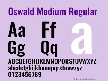 OswaldMedium Version 1.0图片样张