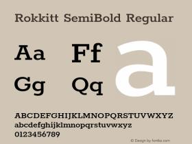 Rokkitt SemiBold Regular 图片样张
