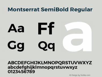 MontserratSemiBold Version 1.0 Font Sample