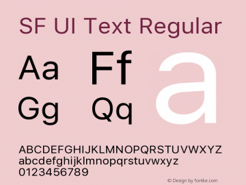 SF UI Text Regular 11.0d45e1--BETA图片样张