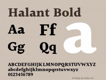 Halant Bold 图片样张