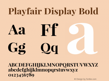Playfair Display Bold 图片样张