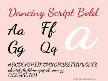 Dancing Script Bold 图片样张