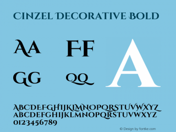Cinzel Decorative Bold 图片样张