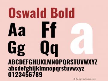 Oswald Bold 图片样张