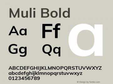Muli Bold 图片样张