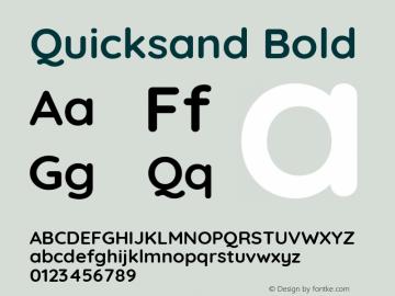 Quicksand Bold 图片样张