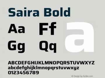 Saira Bold 图片样张