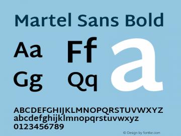Martel Sans Bold 图片样张