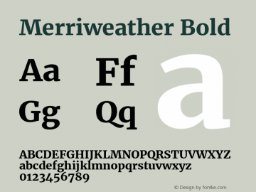 Merriweather Bold 图片样张