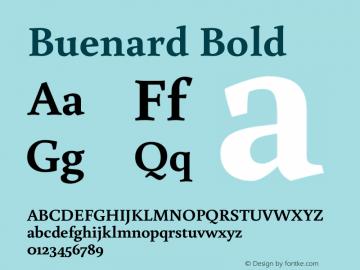 Buenard Bold 图片样张