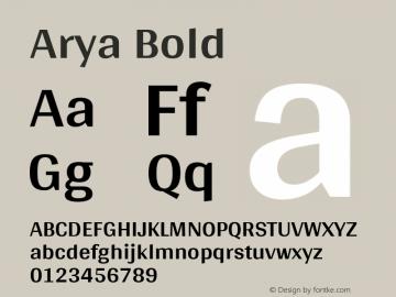 Arya Bold 图片样张