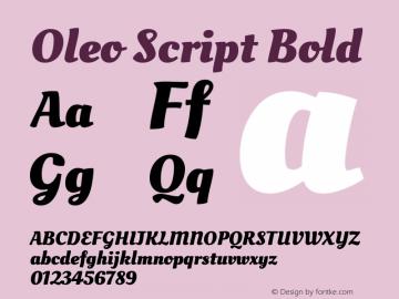 Oleo Script Bold 图片样张