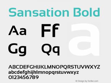 Sansation Bold 图片样张