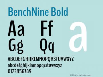 BenchNine Bold 图片样张
