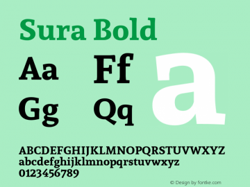Sura Bold 图片样张