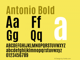 Antonio Bold 图片样张