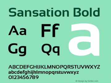 Sansation Version 1.0图片样张