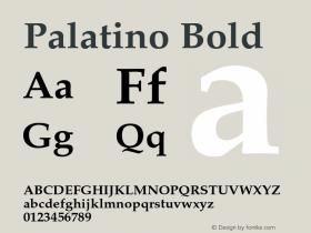 Palatino Bold 001.005图片样张
