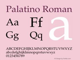 Palatino Roman 001.005图片样张