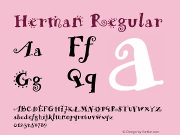 Herman Regular Macromedia Fontographer 4.1.4 7/29/98图片样张