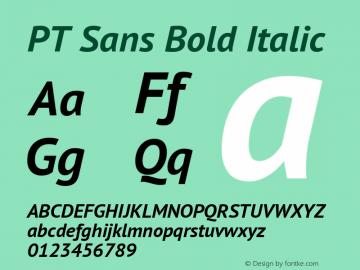 PT Sans Bold Italic 图片样张