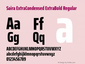 Saira ExtraCondensed ExtraBold Regular 图片样张