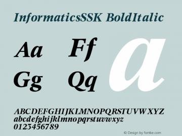 InformaticsSSK BoldItalic Macromedia Fontographer 4.1 8/28/95图片样张